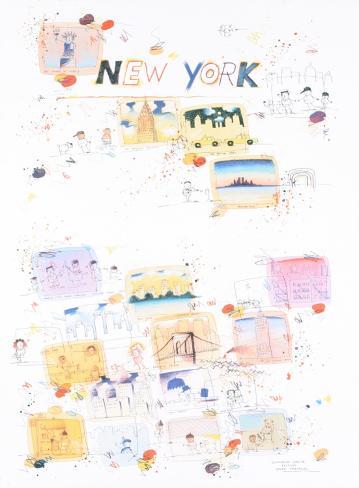 New York, a regular place to live Art Print