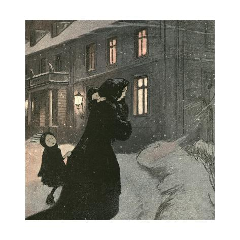 Unmarried Mother, Cold Giclee Print