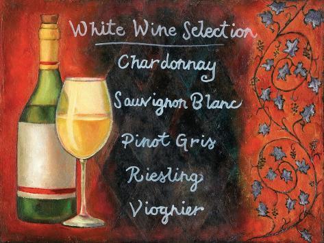 White Wine Selection Art Print