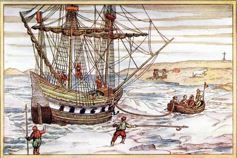 Willem Barents' Ship Among the Arctic Ice, 1594-1597 Giclee Print