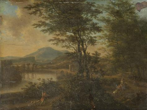 Italian Landscape at Sunset Premium Giclee Print