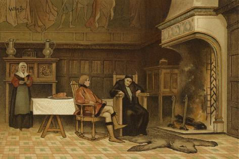Interior of a House, 15th Century Giclee Print