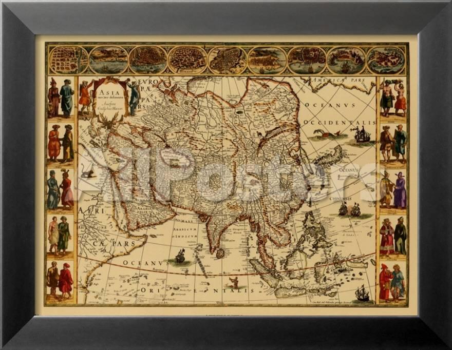 Único Mapas Antiguos Enmarcados Modelo - Ideas Personalizadas de ...