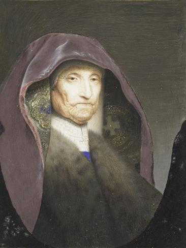 Portret Van Een Oude Vrouw, Zogenaamd Rembrandts Moeder, Rejected Attribution Willem Paulet Art Print