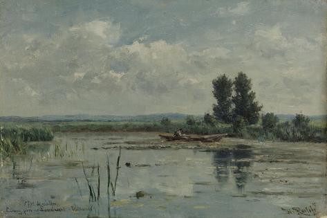 Lake Near Loosdrecht Art Print