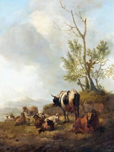 Landscape with Animals Art Print
