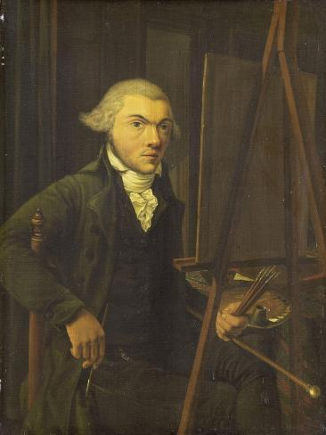 Portrait of a Painter, Probably Harmanus Uppink Art Print