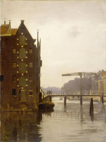 Cityscape with Warehouses Along an Amsterdam Canal Uilenburg Art Print