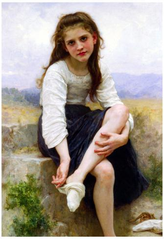 William-Adolphe Bouguereau Before The Bath Art Print Poster Poster