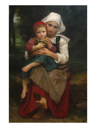 Breton Brother and Sister Art Print