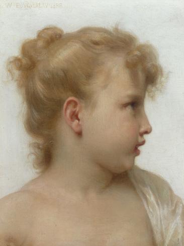 Etude: Tete de Petite Fille, 1888 Giclee Print