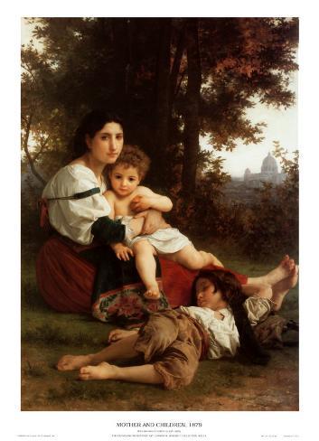 Mother and Children Art Print