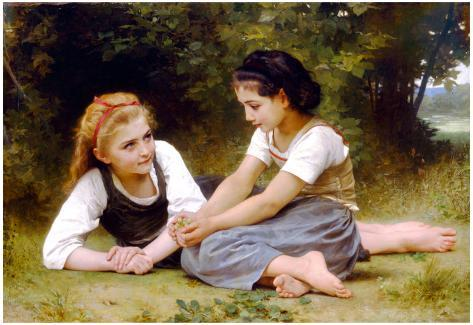 William-Adolphe Bouguereau The Nut Gatherers Art Print Poster Poster