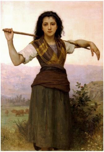 William-Adolphe Bouguereau The Shepherdess Art Print Poster Poster
