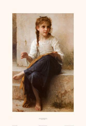 The Young Seamstress Art Print