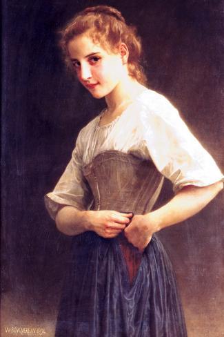 Young Girls Dressing Reproducción de lámina sobre lienzo