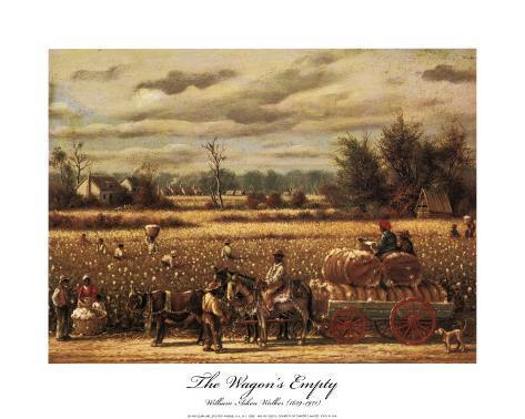 The Wagons Empty Art Print