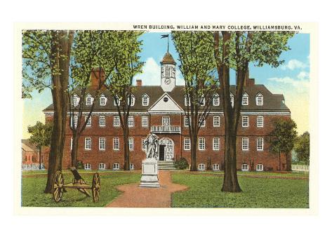 William and Mary College, Williamsburg, Virginia Art Print
