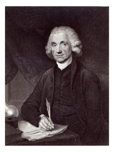 Joseph Priestley, engraved by Thomas Holloway, 1795 Stretched Canvas Print
