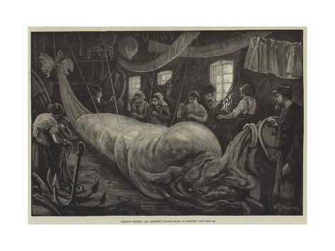 Balloon Making, Mr Coxwell's Manufactory at Seaford Giclee Print