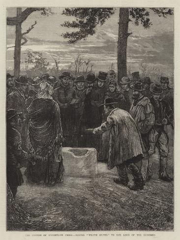 The Custom of Knightlow Cross, Paying Wroth Silver to the Lord of the Hundred Giclee Print