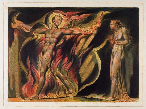 A Naked Man in Flames, Plate 26 from 'Jerusalem', 1804-20 Lámina giclée