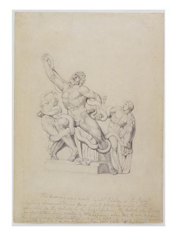 Copy of the Laocoon, for Rees's Cyclopedia, 1815 (Graphite on Laid Paper) Lámina giclée