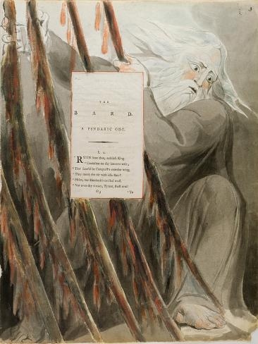The Bard: a Pindaric Ode, from 'The Poems of Thomas Gray', Published 1797-98 Lámina giclée