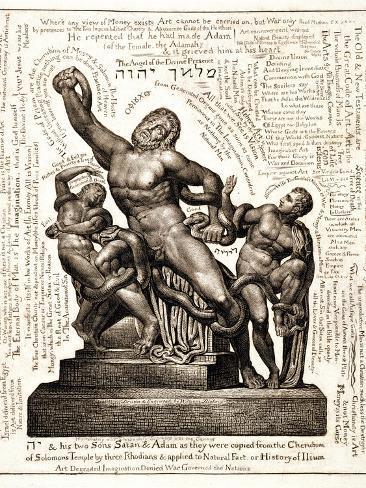 The Laocoon as Jehovah with Satan and Adam, C.1820 Lámina giclée
