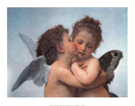 William Bouguereau (The First Kiss) Art Poster Print Poster
