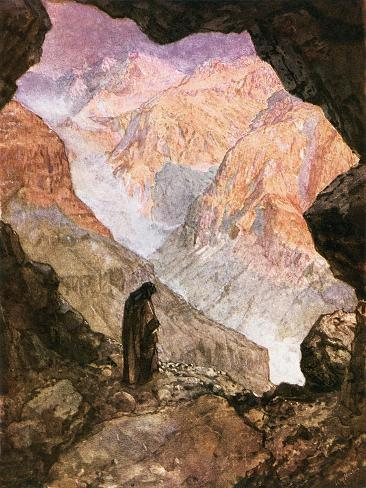 Elijah in the Desert of Horeb Lámina giclée