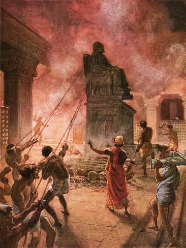 King Josiah Cleansing the Land of Idols Lámina giclée