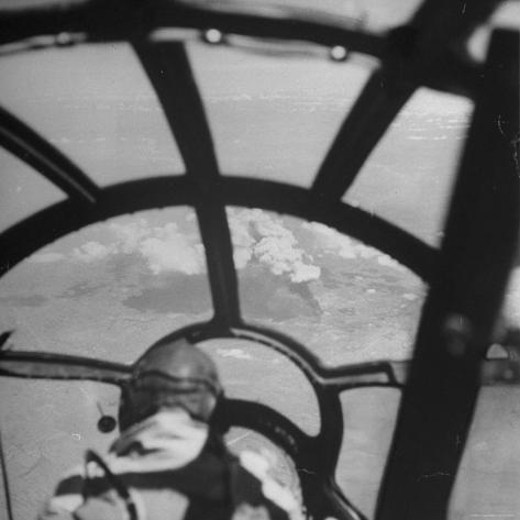 Bombardier in B-29 Bombing Raid Ansham, Manchuria During WWII Photographic Print
