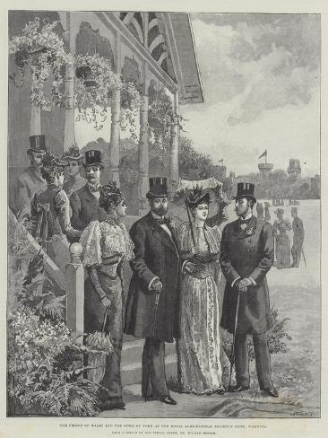 The Prince of Wales and the Duke of York at the Royal Agricultural Society's Show, Warwick Giclee Print
