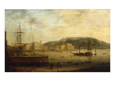 Plymouth Harbour with the Royal William Victualling Yard Giclee Print