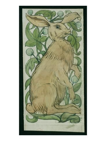 Hare (W/C on Paper) Giclee Print