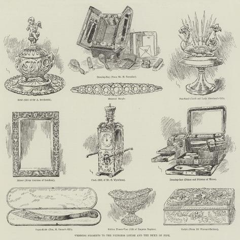 Wedding Presents to the Princess Louise and the Duke of Fife Giclee Print