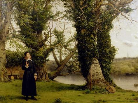 George Herbert (1593-1633) at Bemerton, 1860 Lámina giclée