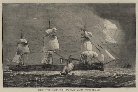 HMS The Shah, the New Fast-Sailing Steam Frigate Giclee Print