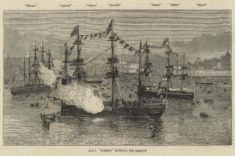 Hmy Osborne Entering the Harbour Giclee Print