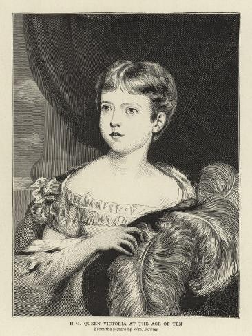 H M Queen Victoria at the Age of Ten Giclee Print