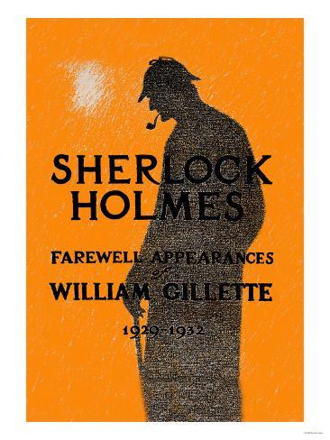 William Gillette as Sherlock Holmes: Farewell Appearance Art Print