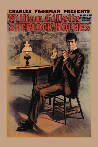 William Gillette as Sherlock Holmes Vinilo decorativo