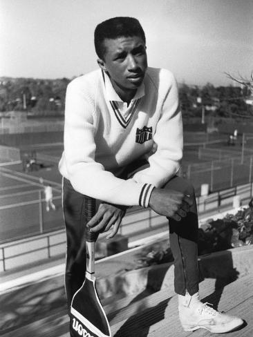 Arthur Ashe, Then a Rising Tennis Star Photographic Print
