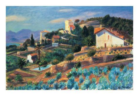 Riviera Hillside Art Print