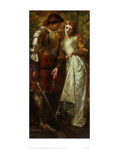 ophelia and laertes 1879 giclee print by william gorman