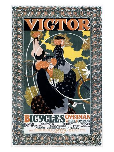 Victor Bicycles Giclee Print