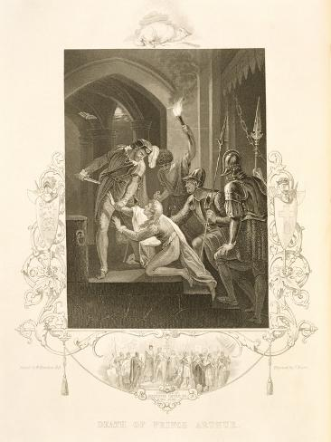 The Death of Prince Arthur, in King John by William Shakespeare (1564-1616) Engraved by J. Rogers Giclee Print
