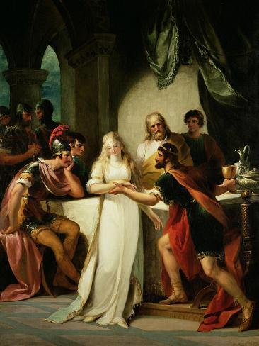 Vortigern and Rowena, 1793 Stampa giclée