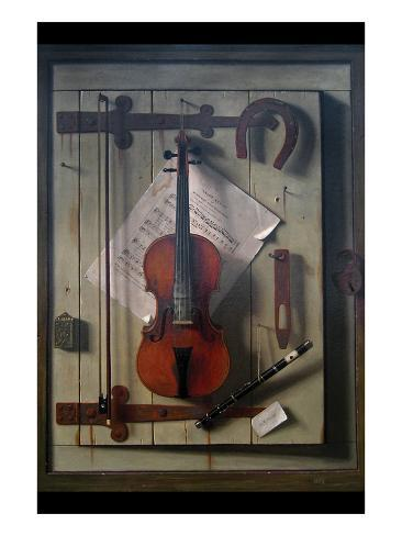 Violin and Music Art Print